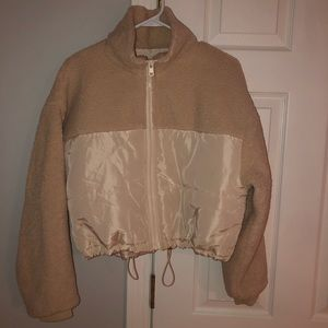 Brand new cream colored puff jacket